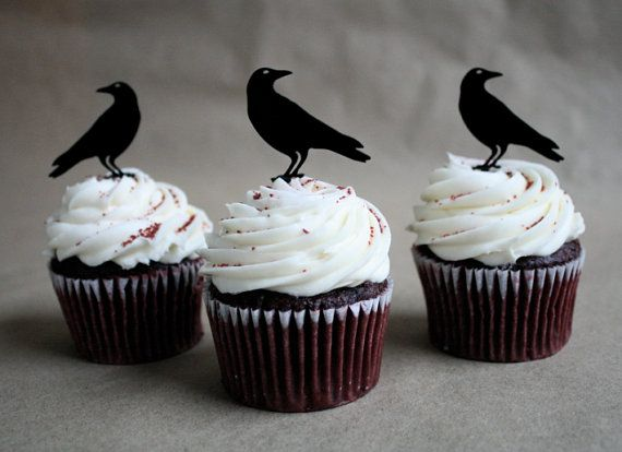 Raven Wedding Cake Toppers