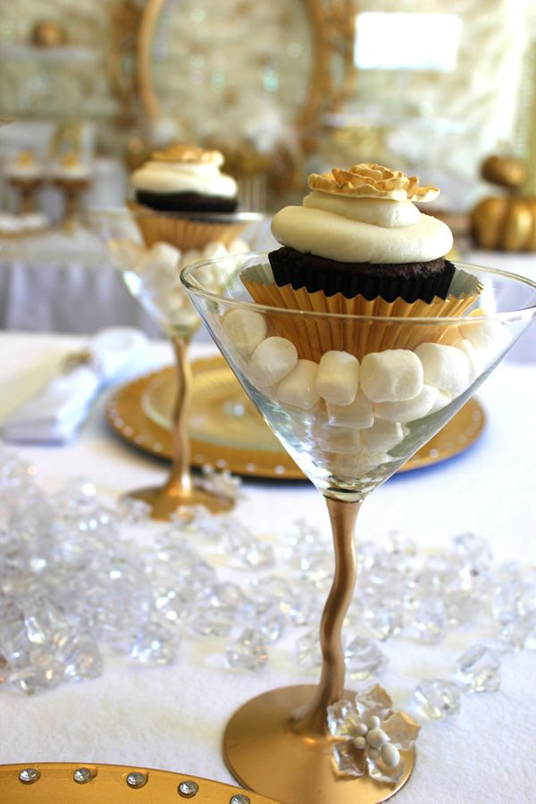 Cupcake on a Martini GlassCupcake on a Martini Glass