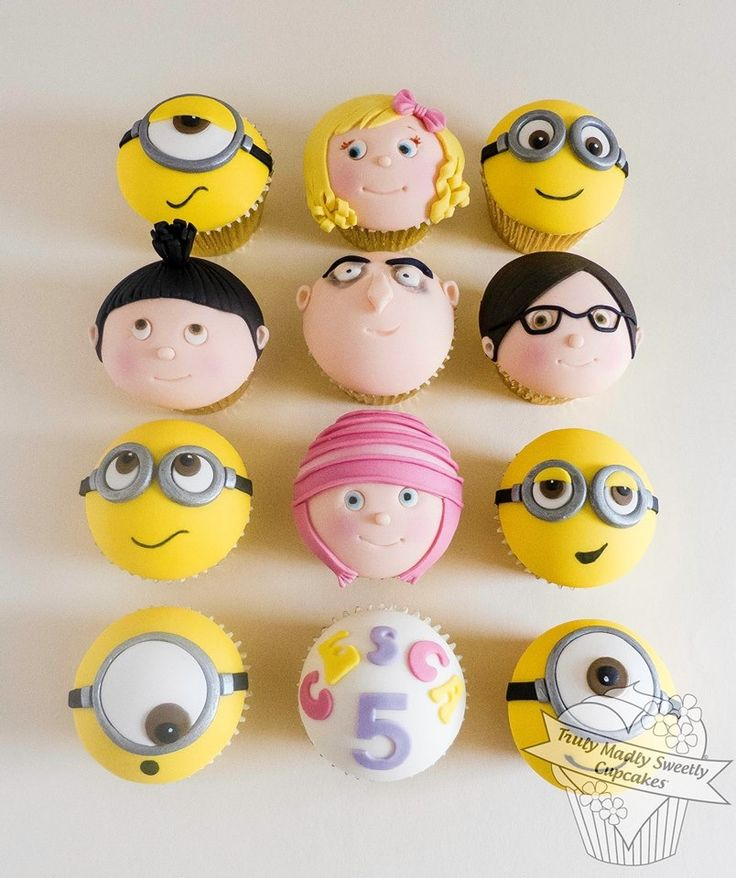 Cute Despicable Me Cupcakes