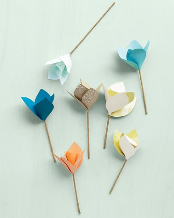 Cute Paper Flower Cupcake Toppers