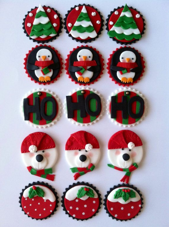 Cake Toppers For Christmas : 35 Best Christmas Cupcake Toppers - Cupcakes Gallery
