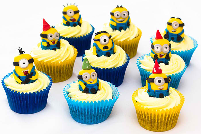 Despicable Me Inspired Minion Cupcake