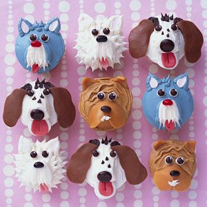 Different Puppy Cupcakes