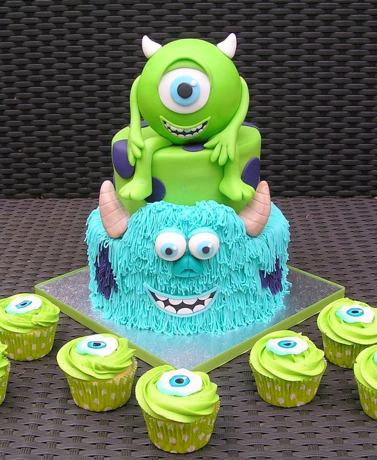 Disney Monster Cupcakes