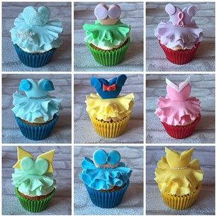 Disney Princess Fashions Cupcakes