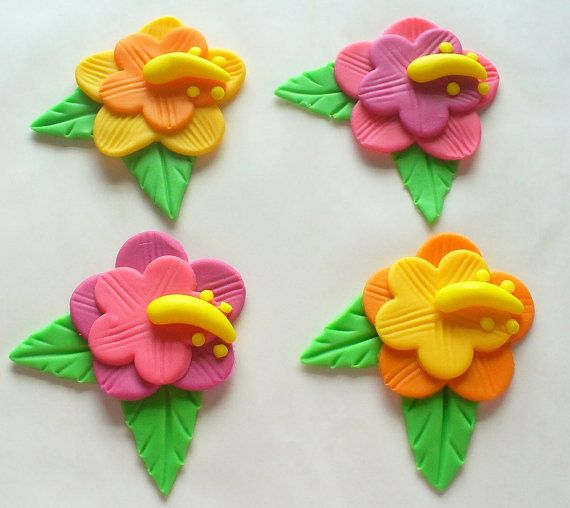 Edible Hibiscus Flower Cupcake Toppers Cupcakes Gallery