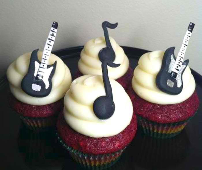 Electric Guitar And Eighth Note Cupcakes Cupcakes Gallery