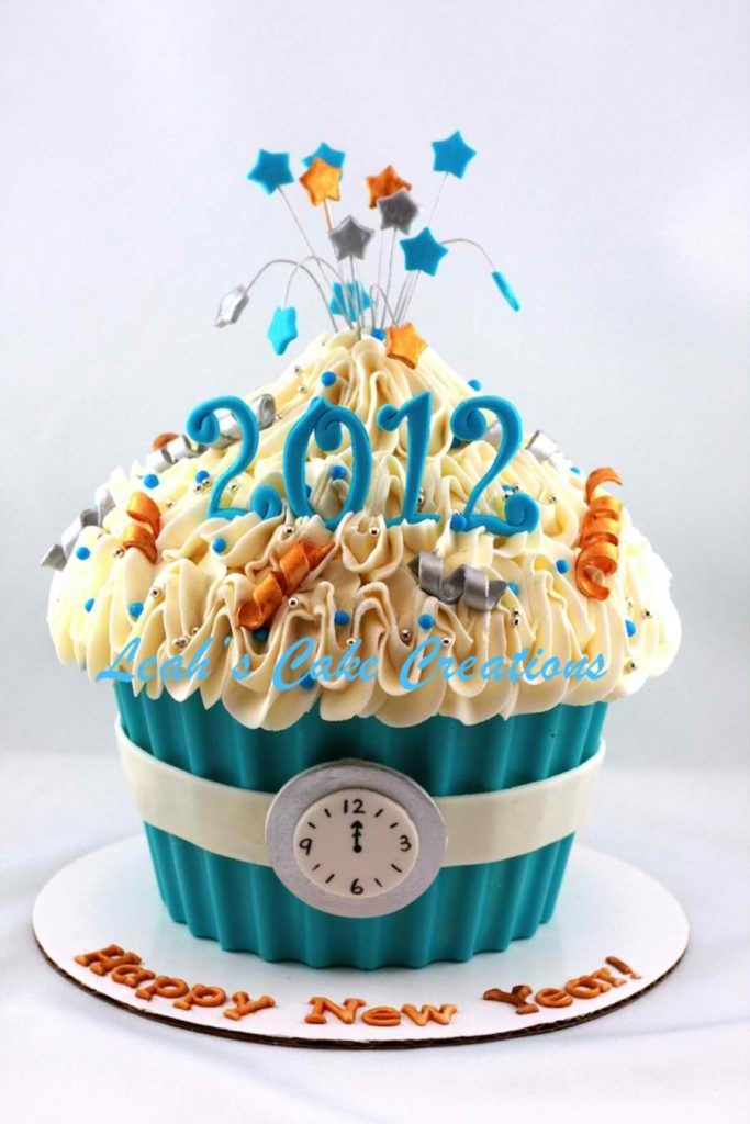 Giant Happy New Year Cupcake