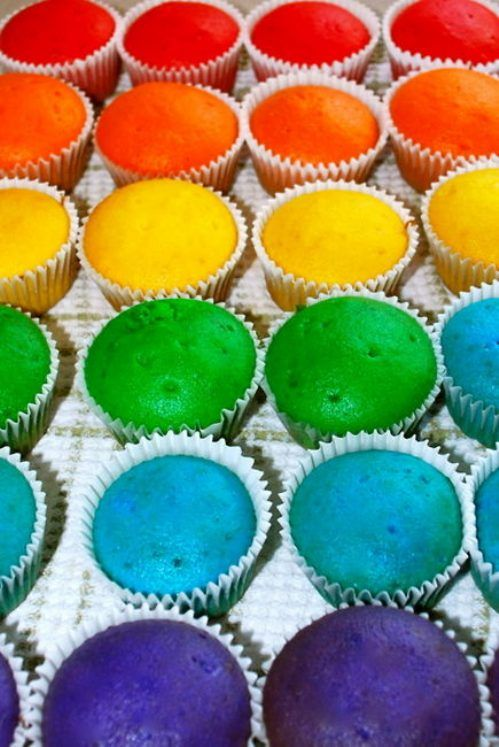 Glowing Colorful Cupcakes