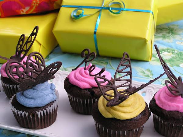 Gorgeous Butterfly Cupcake Toppers