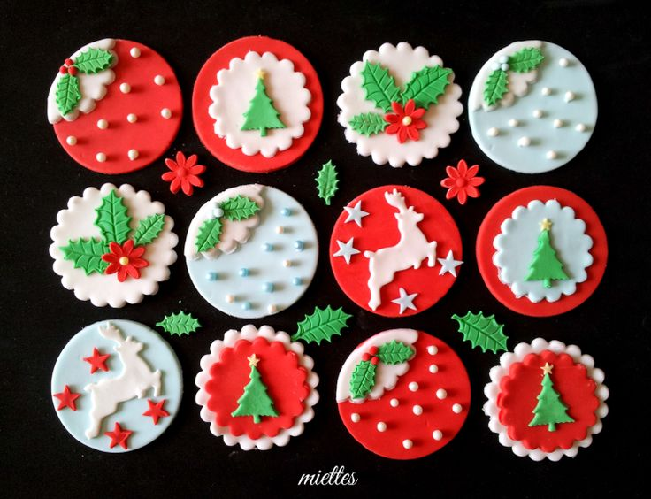 Christmas Toppers For Cupcakes.Gorgeous Christmas Tree Cupcake Toppers Cupcakes Gallery