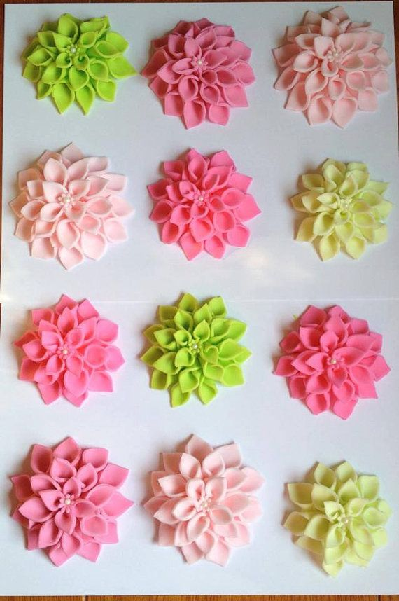 Gorgeous Fondant Flower Cupcake Toppers