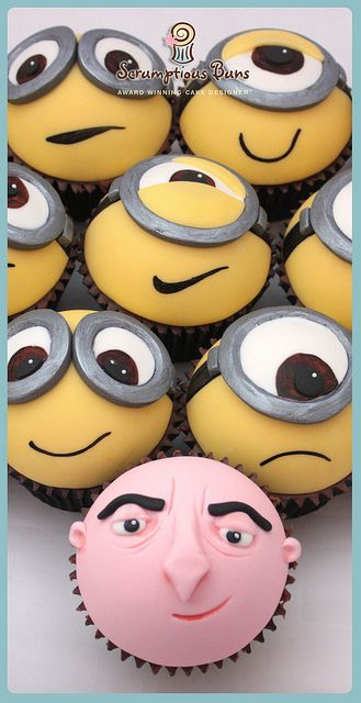 Gru and It's Minions Cupcakes