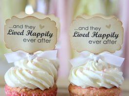 Lived Happily Ever After Cupcake Topper