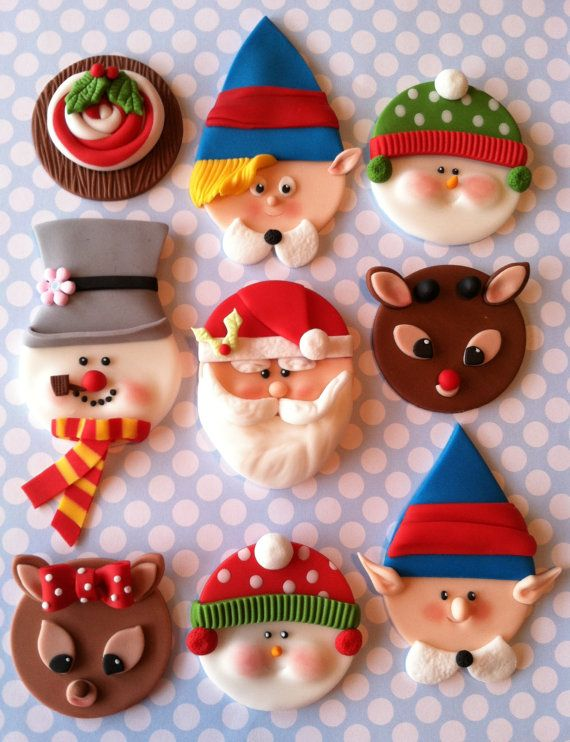 Lovely Christmas Cupcake Toppers
