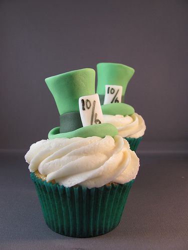 Mad Hatter Hats Disney Cupcakes