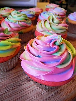 Moist Colorful Cupcakes