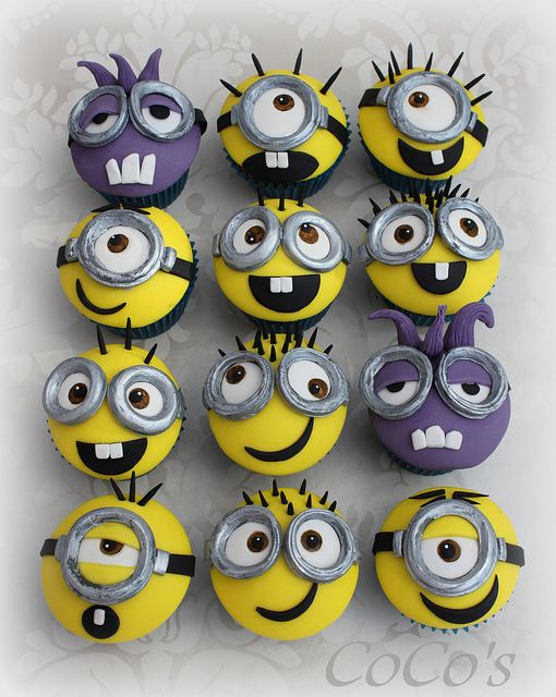 Monster and Minion Cupcakes