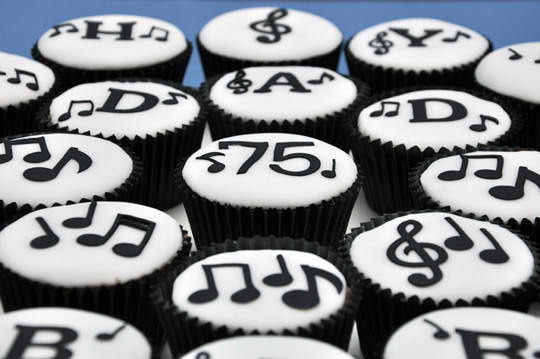 Musical Themed Cupcakes For Birthday Party