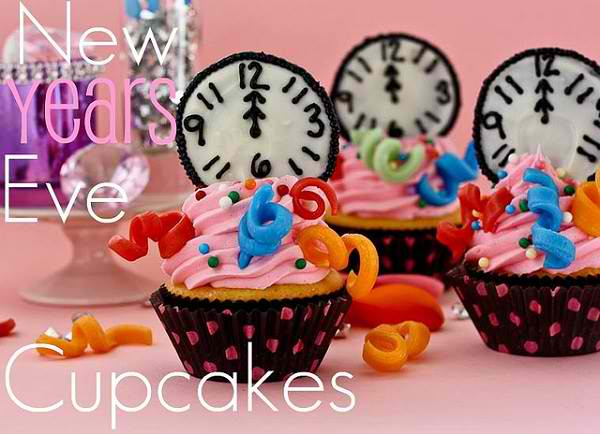 New Years Eve Midnight Cupcakes