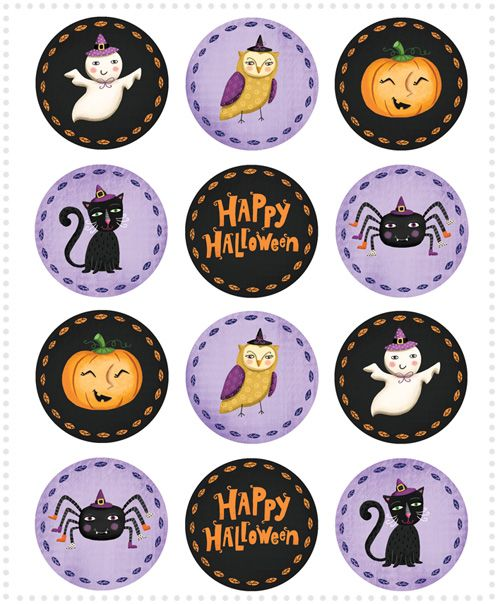 Not So Scary Halloween Cupcake Toppers