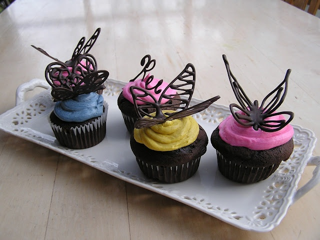 Pretty Butterfly Cupcakes Toppers