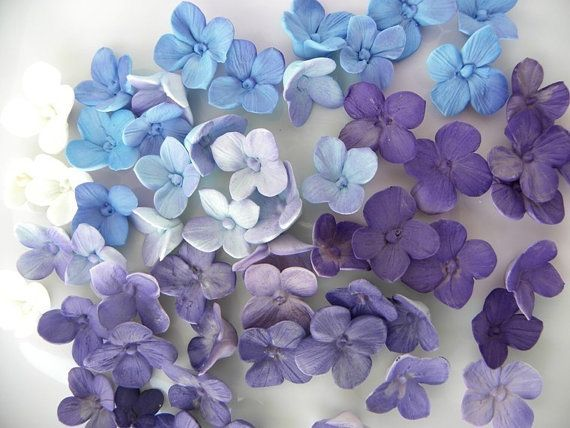 Pretty Hydrangea Flower Cupcake Toppers