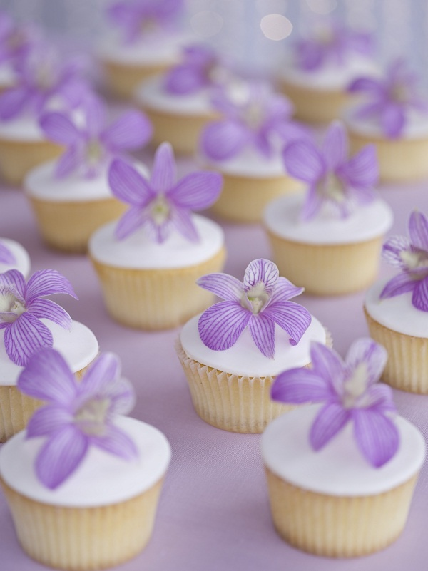 Pretty Purple Floral Cupcakes