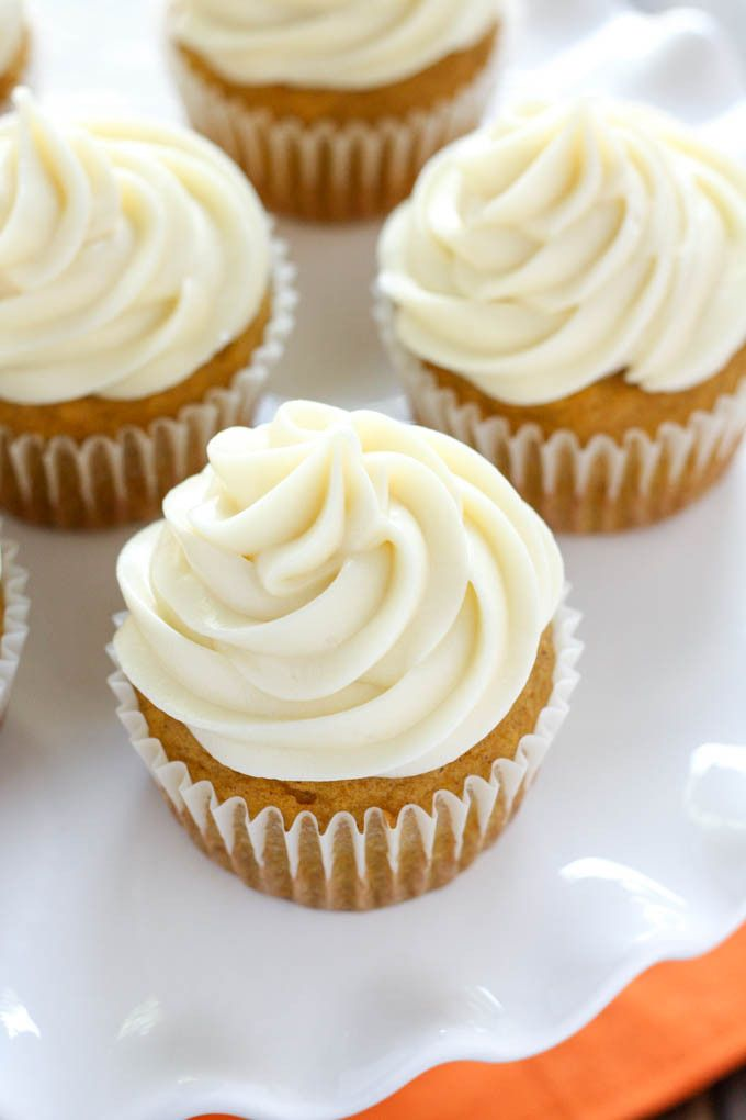 Pumpkin Cupcakes with Cream Cheese