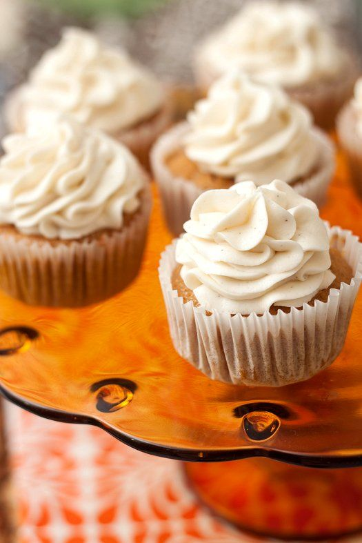 Pumpkin Cupcakes with Maple Cream