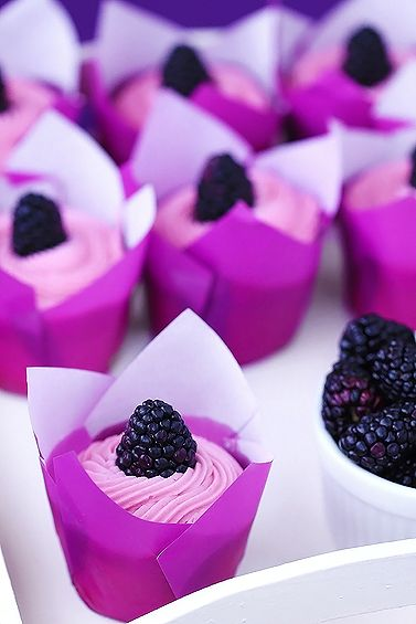 Purple Blackberry Lemon Cupcakes