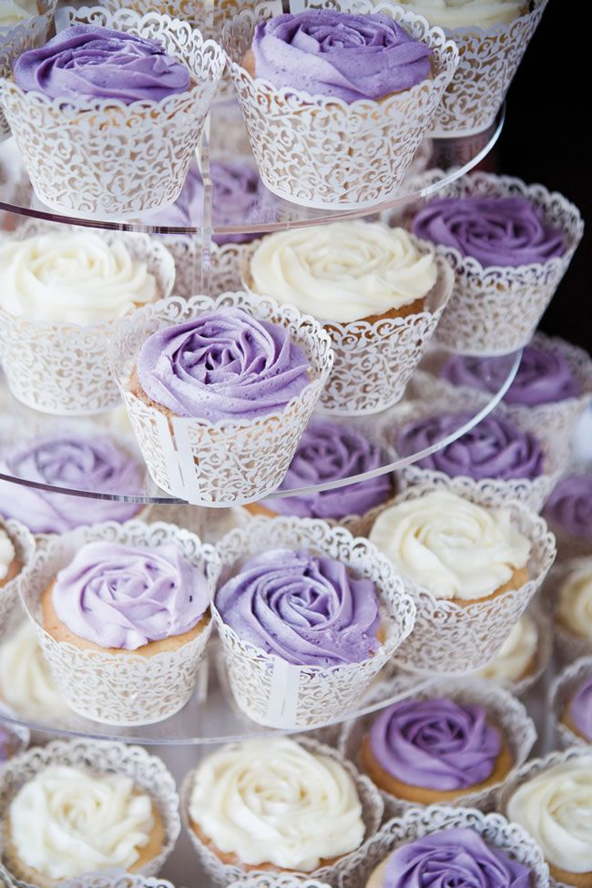 Purple Country Garden Cupcakes