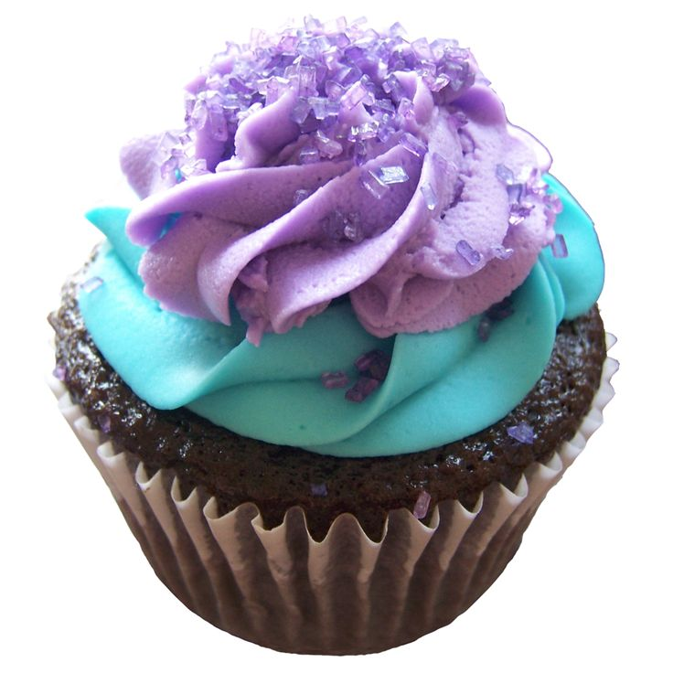Purple and Tiffany Blue Cupcakes