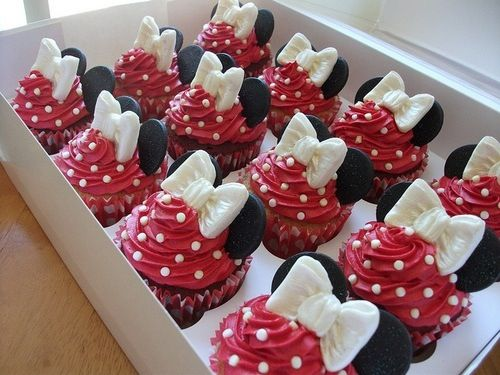 Red and White Disney Cupcakes