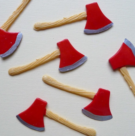 Scary Hatchet Cupcake Toppers