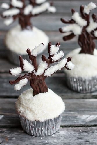 Snow Tree Cupcake Toppers