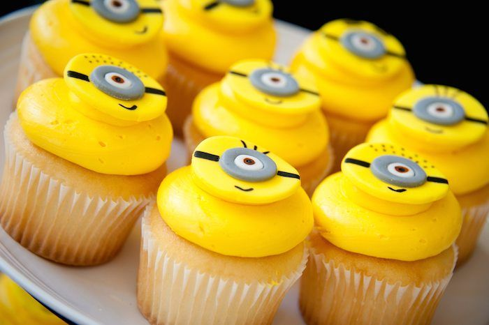 Super Yellow Super Bright Minion Cupcakes