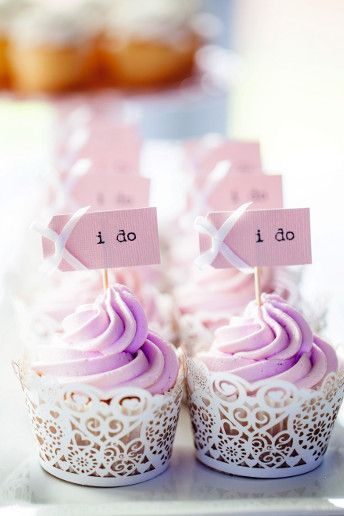 Sweet Purple Wedding Cupcakes