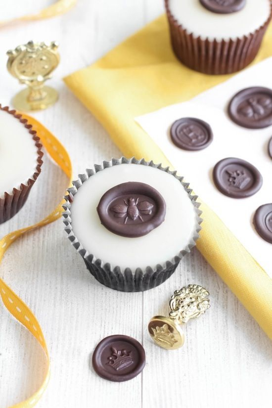 Wax Seal Printed Chocolate Toppers