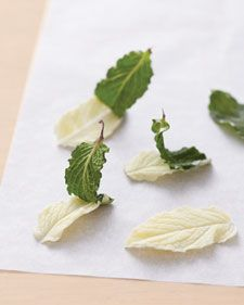 White Chocolate Mint Leaves Topper