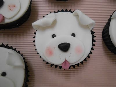 White Puppy Cupcakes