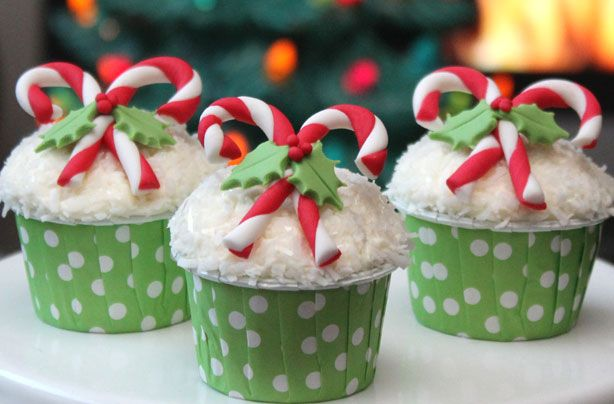 Charming Candy Cane Cupcakes