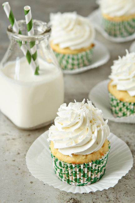 Coconut Lime Buttercream Cupcakes
