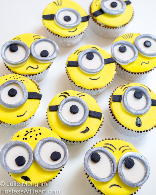 Emotional Minion Cupcakes