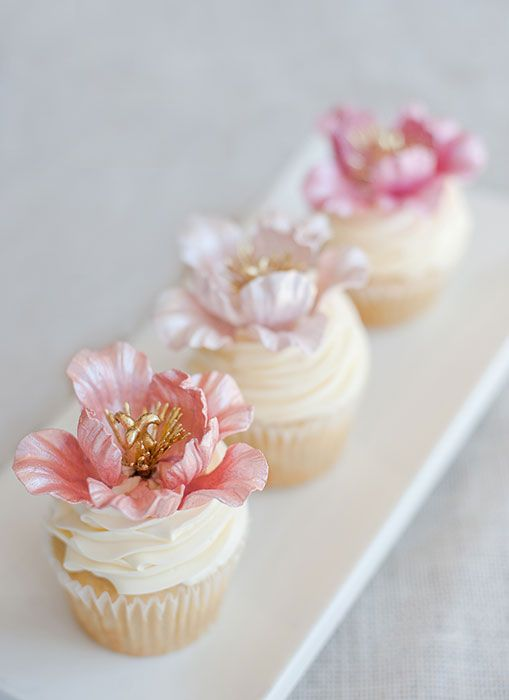 Intricate Floral Cupcakes