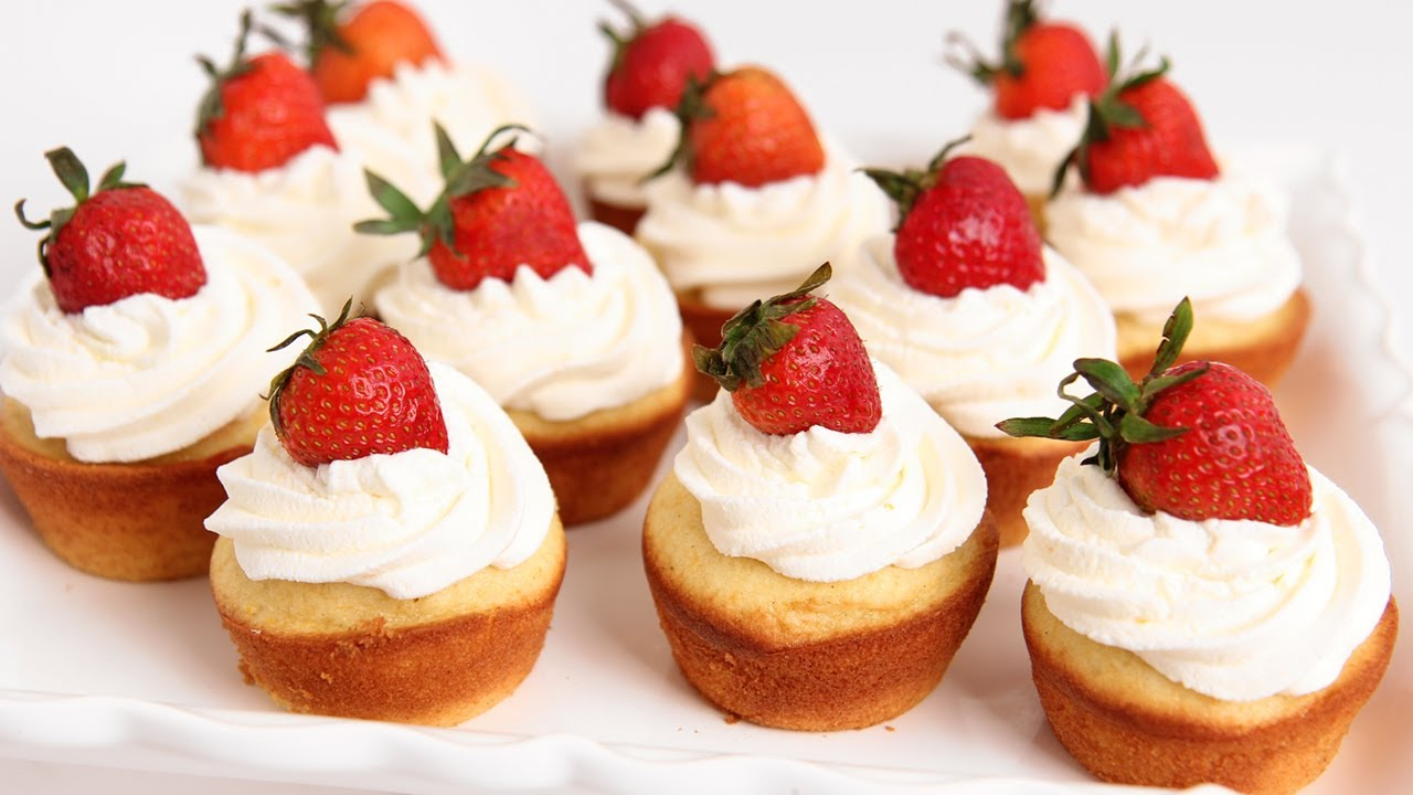 valentine's day cupcakes food network - 40 Succulent Strawberry Cupcakes