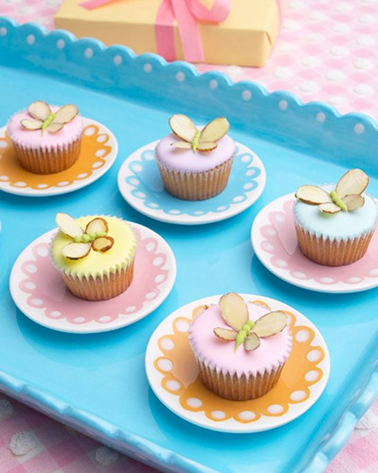 Almond Butterfly Cupcakes