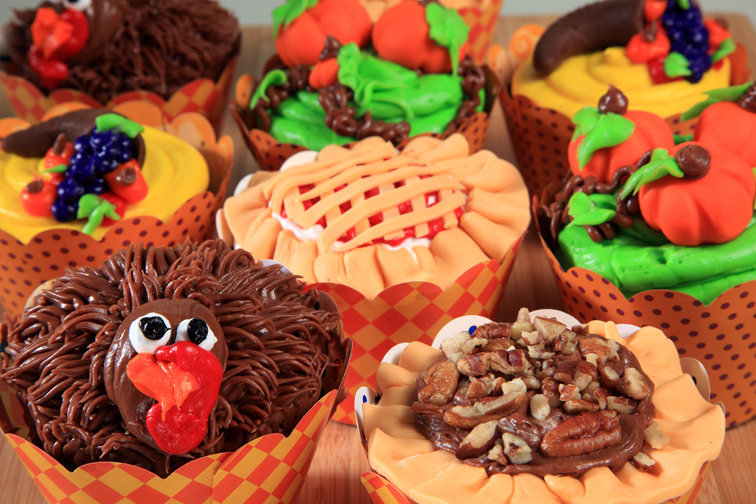Assorted Thanksgiving Cupcakes