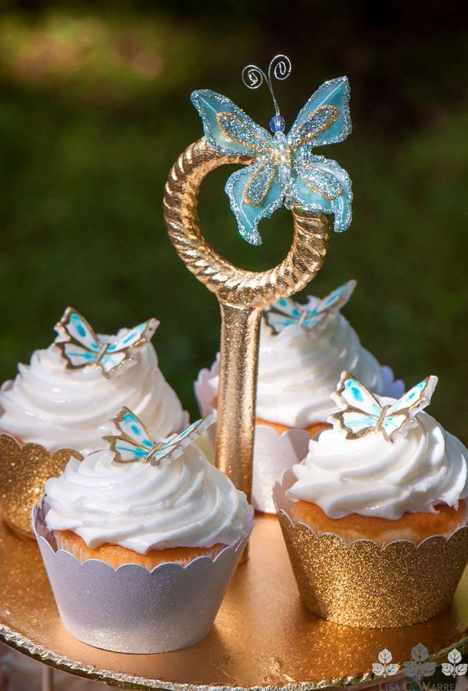 Cinderella Butterfly Cupcakes