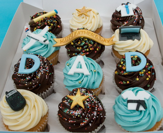 Fancy Dad Cupcakes